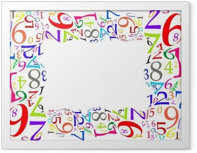 Marco de números de colores Framed Poster