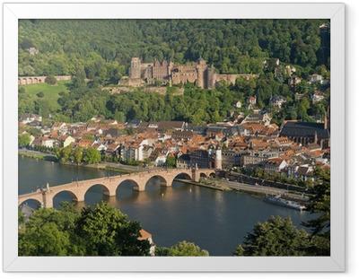 Gerahmtes Poster Stadt Heidelberg