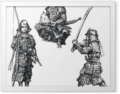 Poster en cadre Guerrier japonais - samouraï