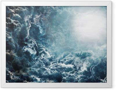 Ingelijste Poster Donkere hemel met maan
