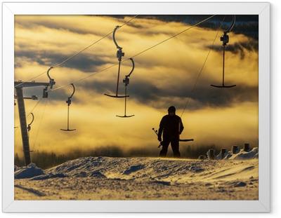 Skisportssted Indrammet plakat
