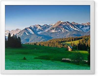 Poster en cadre Polonais Tatras panoram dans la matinée