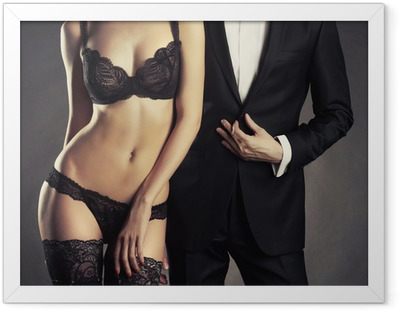 Sensual couple Framed Poster