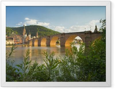 Gerahmtes Poster Heidelberg am Neckar