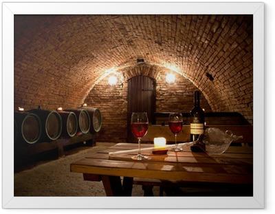 Póster com Moldura Wine cellar