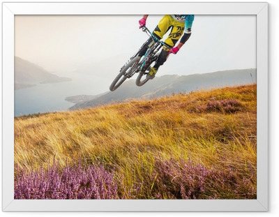 biker & lago di Como Framed Poster