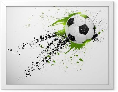 Innrammet plakat Fotballdesign