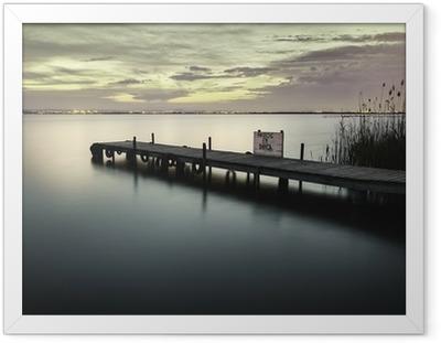 Gerahmtes Poster Albufera-See von Valencia Spanien Feuchtgebiete im Mittelmeer