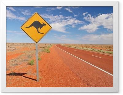Ingelijste Poster Australische eindeloze wegen