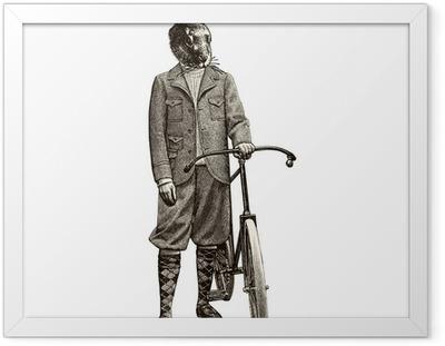 Póster Enmarcado Bicicleta Conejo