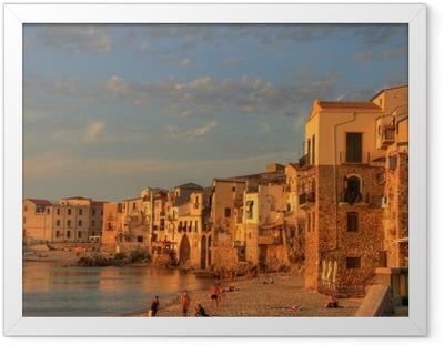 Gerahmtes Poster Szenen von Sizilien