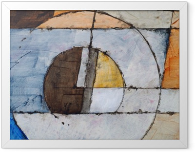 Poster en cadre Une peinture abstraite - Style de vie