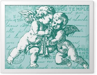 Poster en cadre Les anges bleus