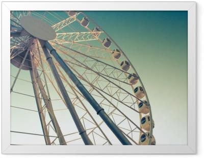 ferris wheel against Framed Poster