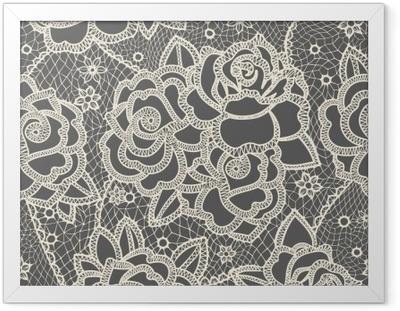 Poster en cadre Lace seamless pattern