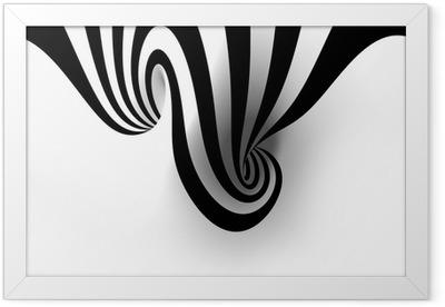 Gerahmtes Poster Abstrakte Spirale mit leeren Raum