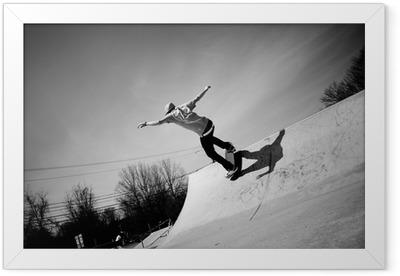 Skateboard Ramp Framed Poster