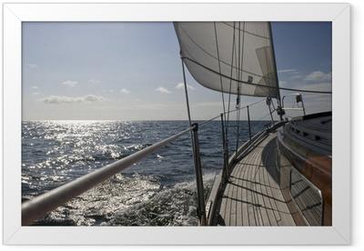 Ingelijste Poster Zeilschip op zee