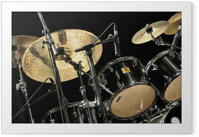 Poster en cadre Schlagzeug - Musique