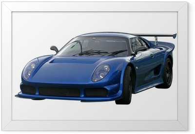 blue supercar Framed Poster