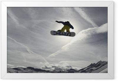 Snowboard Indrammet plakat