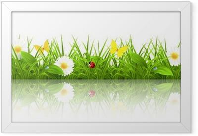 Gerahmtes Poster Green grass