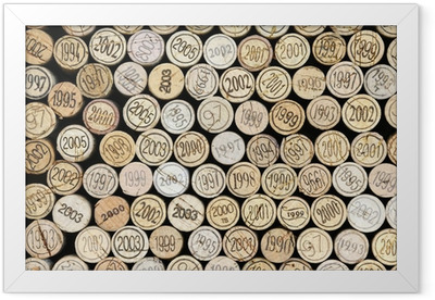 Ingelijste Poster Achtergrond van wijnkurken