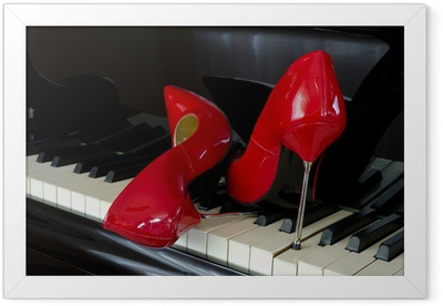 Poster en cadre Piano 8 - Musique