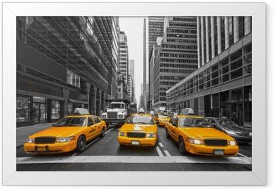 Poster en cadre TYellow taxis à New York City, USA.
