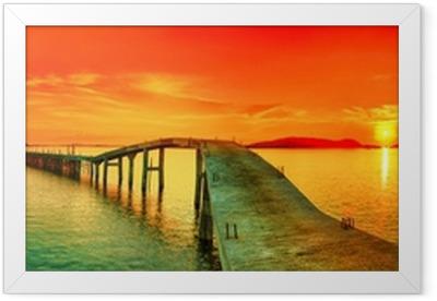 Poster en cadre Coucher de soleil panorama - Thèmes