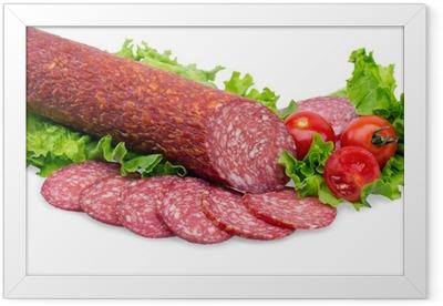 tasty red salami Framed Poster