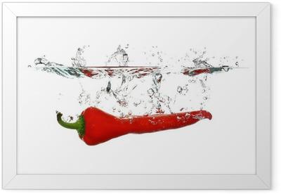 Ingelijste Poster Red Pepper splash