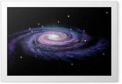 Plakát v rámu Spirální galaxie Mléčná dráha