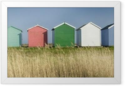 Poster en cadre Cabines de plage colorées