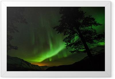 Poster en cadre Aurora Borealis (aurores boréales) en Suède - Europe