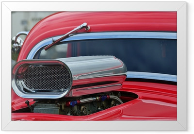 Detail of air intake and windscreen on custom car Framed Poster