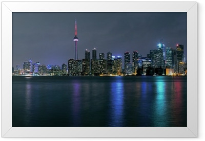Toronto city at night Framed Poster