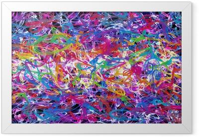 Ingelijste Poster Abstracte graffiti