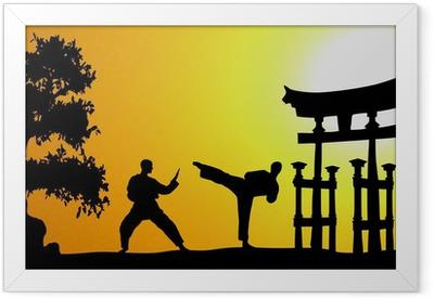 Kampfsport Asien Framed Poster