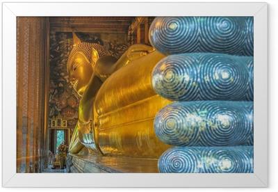 Gerahmtes Poster Liegender Buddha, starke Pho, Bangkok, Thailand
