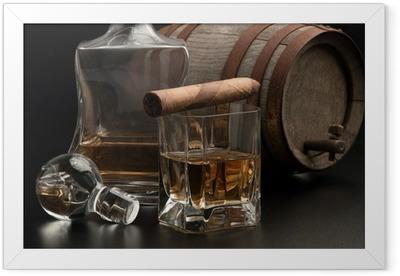 Poster i Ram Whisky & Sigaro