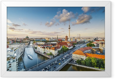 Berlin, Germany Afternoon Cityscape Framed Poster