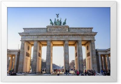 Gerahmtes Poster Brandenburger Tor in Berlin - Deutschland