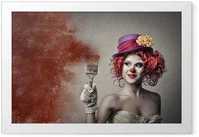 Ingelijste Poster Schilderij Clown