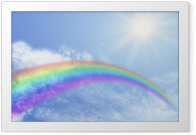 Rainbow Website Banner Header Framed Poster