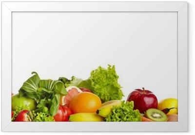 Gerahmtes Poster Obst und Gemüse Grenzen