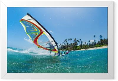 Windsurfing Framed Poster