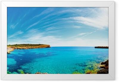 Poster en cadre Panorama de la baie avec les côtes rocheuses, Mallorca, Espagne
