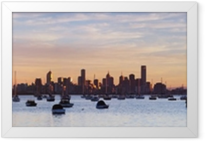 Melbourne Panorama Framed Poster