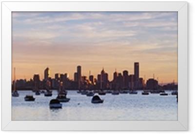 Ingelijste Poster Melbourne Panorama